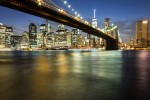 Photo du Brooklyn Bridge de nuit