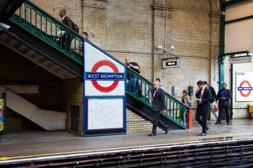 Photo du métro de West Brompton de Londres
