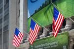 Photo de drapeaux américains à Wall Street