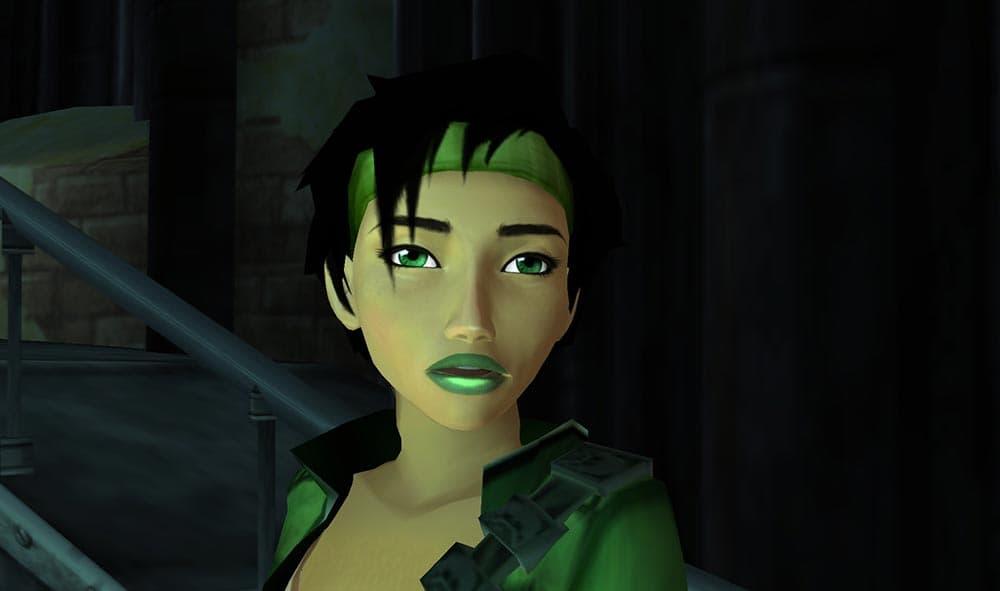 Capture d'écran du jeu Beyond Good and Evil représentant Jade, le personnage principal.