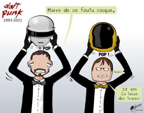 Les Daft Punk enlèvent leur masque. Après 28 ans, ils en ont marre.
